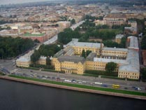 Питер Дворец Меншикова сверху
