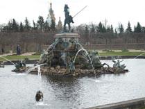 Питер Петергоф Фонтан на верхней площади