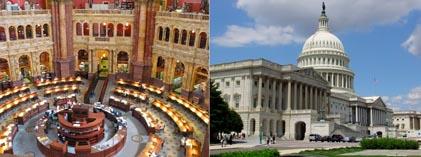 Америка Капитолий и библиотека Конгресса