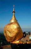 Золотой камень Будды в Мьянме