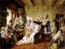 Картина подготовка к свадьбе царицы
