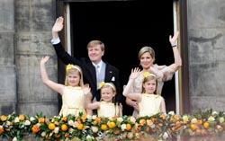 Король Нидерландов Виллем-Александр с семьей