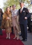 Королевская чета Нидерландов и мать-королева Биатрис