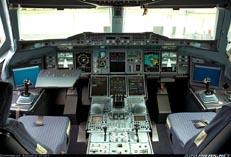 Аэрбас A-380 в кабине пилотов