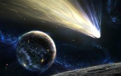 Комета в полете