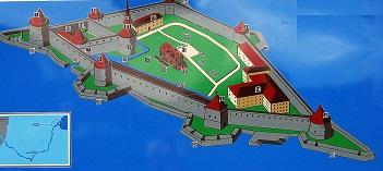 Шлиссельбургская крепость - схема