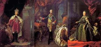 Павел I, Петр III, Екатерина II