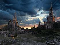Вид мировых столиц (Москва) после глобальных катастроф