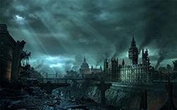Вид мировых столиц (Лондон) после глобальных катастроф