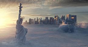 Вид мировых столиц (Нью-Йорк) после глобальных катастроф