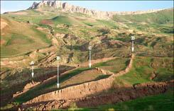 Обозначенные габариты предполагаемого остова закаменелого Ноего Ковчега на горе Арарат