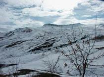 Видимый остов Кочега зимой