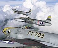 Истребитель ВВС США Локхид F-80C