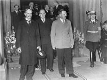 Невилл Чемберлен, Эдуард Даладье и Адольф Гитлер
