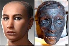 Тутанхамон - реставрация лица по черепу